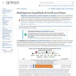 Statistiques sur la pandémie de Covid-19 en France