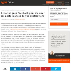 6 statistiques Facebook pour mesurer les performances de vos publications