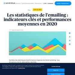 Statistiques de l'emailing et performances moyennes en 2019