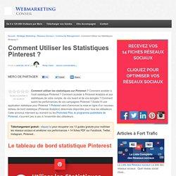 Le tableau de bord statistique sur Pinterest
