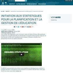 Initiation aux statistiques pour la planification et la gestion de l'éducation