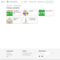 Statistiques et probabilités – simulation, animation interactive, video