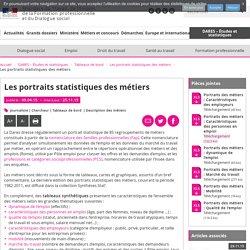 Les portraits statistiques des métiers - Les portraits statistiques des métiers - MinistèreduTravail, del'Emploi, delaFormation professionnelle etduDialoguesocial