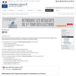 2013 / Sécurité civile / Statistiques / Publications