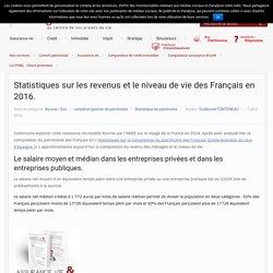 Statistiques sur les revenus et le niveau de vie des Français en 2016.