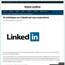 30 statistiques sur LinkedIn qui vous surprendront