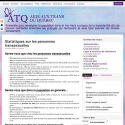 Statistiques sur les personnes transsexuelles - ATQ