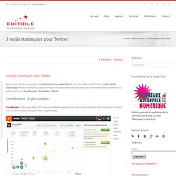 3 outils statistiques pour Twitter