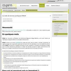 Statistiques d'utilisation - Le code de bonnes pratiques PIRUS