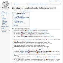 Statistiques et records de l'équipe de France de football