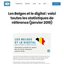 Les Belges et le digital : voici toutes les statistiques de référence (janvier 2019) -