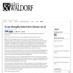 Statler & Waldorf » Evan Douglis Interview [Issue 10.1]