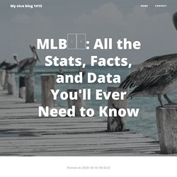 MLB중계: All the Stats, Facts, and Data You'll Ever Need to Know