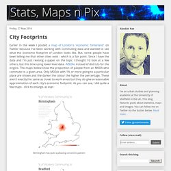 Stats, Maps n Pix: City Footprints