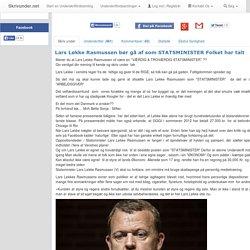 Lars Løkke Rasmussen bør gå af som STATSMINISTER Folket har talt