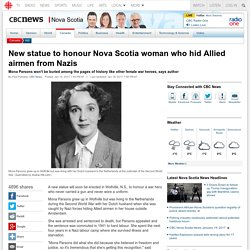 New statue to honour Nova Scotia woman who hid Allied airmen from Nazis - Nov...