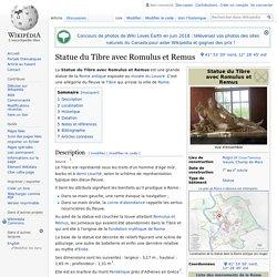 Statue du Tibre avec Romulus et Remus