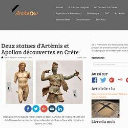Deux statues d'Artémis et Apollon découvertes en Crète - Archeow.fr