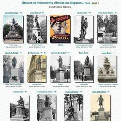 Statues détruites ou disparues à Paris