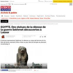 EGYPTE. Des statues de la déesse de la guerre Sekhmet découvertes à Louxor