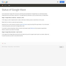 About Google Wave