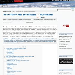 HTTP Status Codes and .htaccess ErrorDocuments