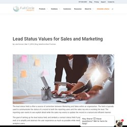 Lead Status Values for Sales and Marketing