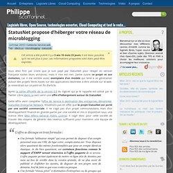 StatusNet propose d'héberger votre réseau de microblogging – Phi