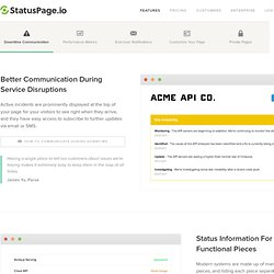 Hosted Status Pages for Your Company - Tour