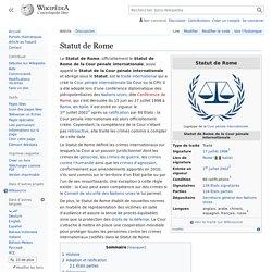 Statut de Rome