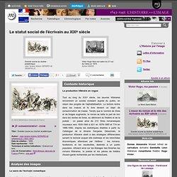 Le statut social de l'écrivain au XIXe siècle