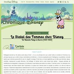 Le Statut des Femmes chez Disney : De Blanche Neige à Aurore 1937-1959