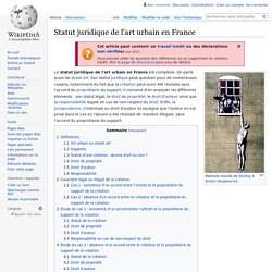 Statut juridique de l'art urbain en France