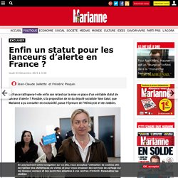 Enfin un statut pour les lanceurs d'alerte en France ?