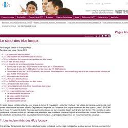 Le statut des élus locaux (vitrine.Le statut des élus locaux) - CNFPT
