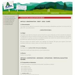 Statuts de l' Association du BEAU