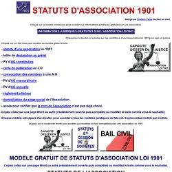statuts type d'une association loi 1901 modele gratuit ?  Habitat,