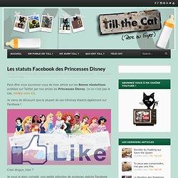 Les statuts Facebook des Princesses Disney