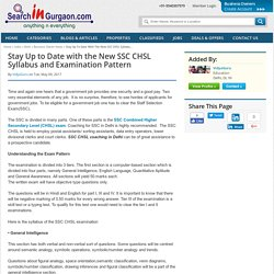 Stay Up to Date with the New SSC CHSL Syllabu...
