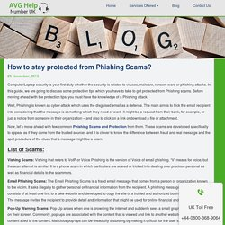 How to stay protected from Phishing Scams?