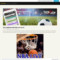 Stay Updated with NBA Live Score – Hasil Skor