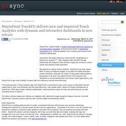 StayinFront TouchCG delivers new and improved Touch Analytics with dynamic and interactive dashboards in new release