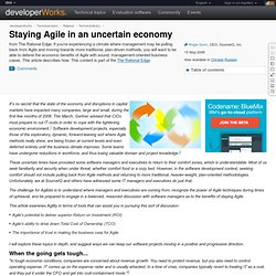Staying Agile in an uncertain economy