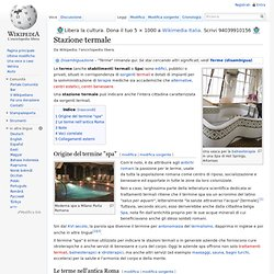 Stazione termale wikipedia