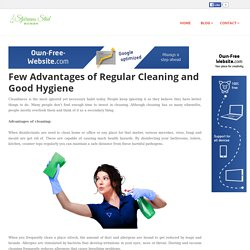 stdfirmanistockholm - Few Advantages of Regular Cleaning and Good Hygiene