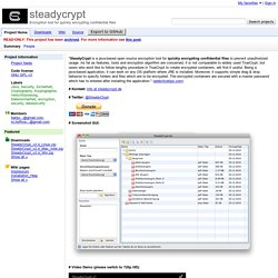 steadycrypt - Encryption tool for quickly encrypting confidential files