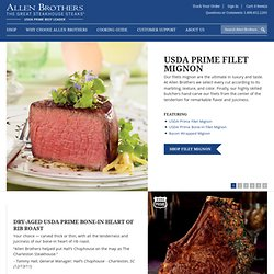 Steaks Online, Prime Beef, and Gourmet Meats - Allen Brothers