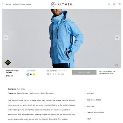 Stealth snow jacket – Aether apparel
