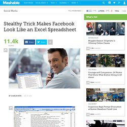 Stealthy Trick Makes Facebook Look Like an Excel Spreadsheet