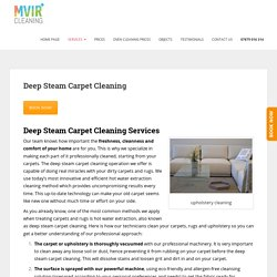 Deep Steam Carpet Cleaning - Mvir Cleaning London - Cleaning on the next Level